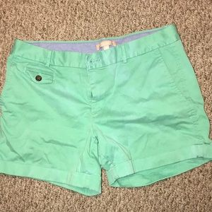 Banana Republic green City Chino Shorts